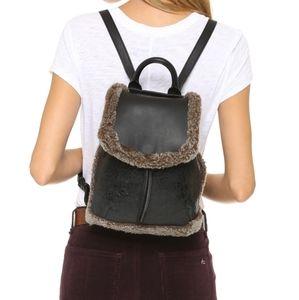 Rag and Bone mini pilot shearling leather backpack